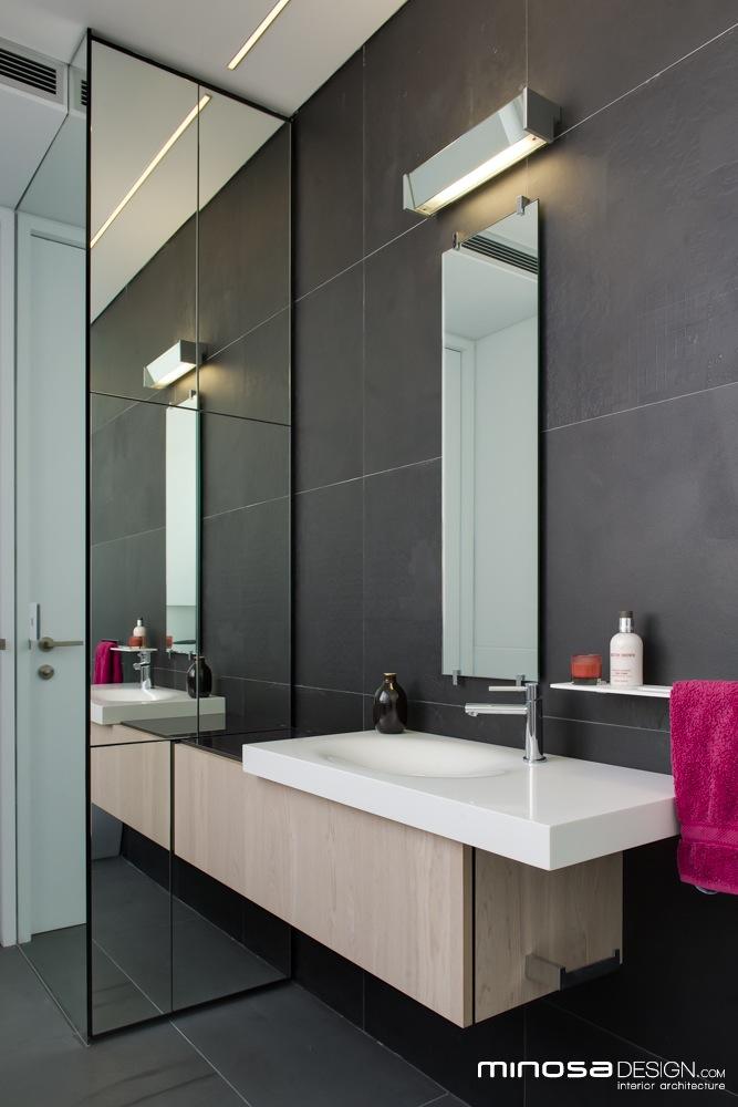Innovative Use Of Space Creates A Seamless Bathroom Design